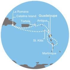 Costa Favolosa - Antily, Dominikán.rep., Panenské ostrovy