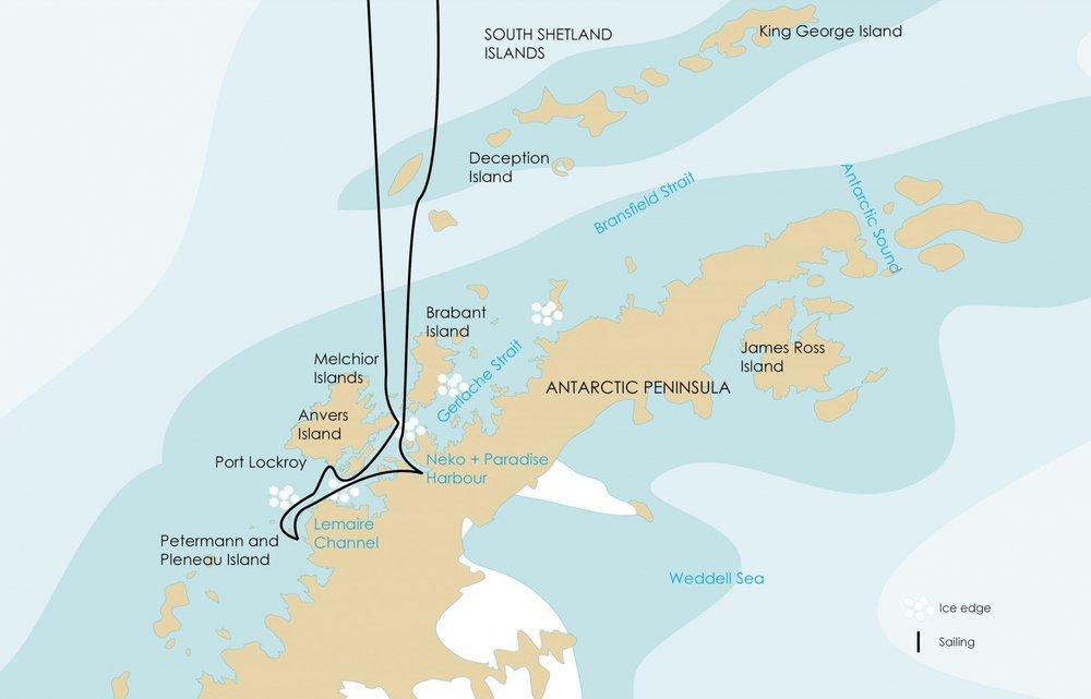 Antarktický poloostrov na lodi Plancius (11 dnů)