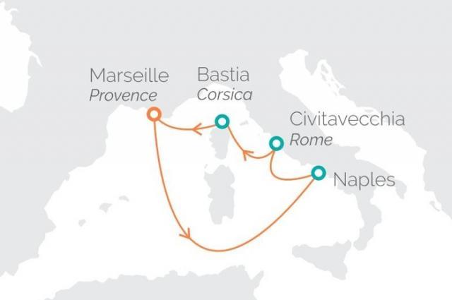 Z Francie do Itálie a zpět na lodi Zenith