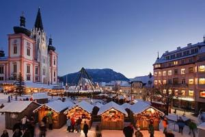 Čerti v St. Sebastian a adventní trhy v Mariazell