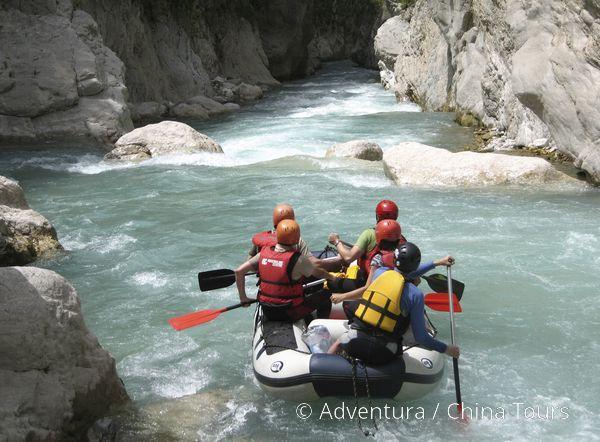 Rafting a kanoe v Řecku