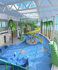 Německo, Amberg, aquapark Kurfiřtské lázně